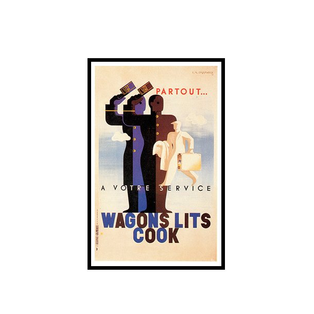 Cassandre, 1934 - Wagons lits Cook
