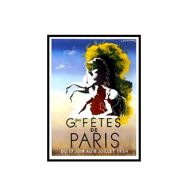 Cassandre, 1934 - Gdes fêtes de Paris