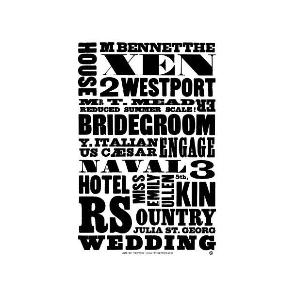 Søndergaard, Victorian Typefaces