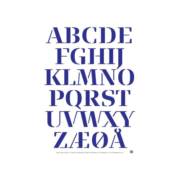 Signa Serif Stencil - Blå