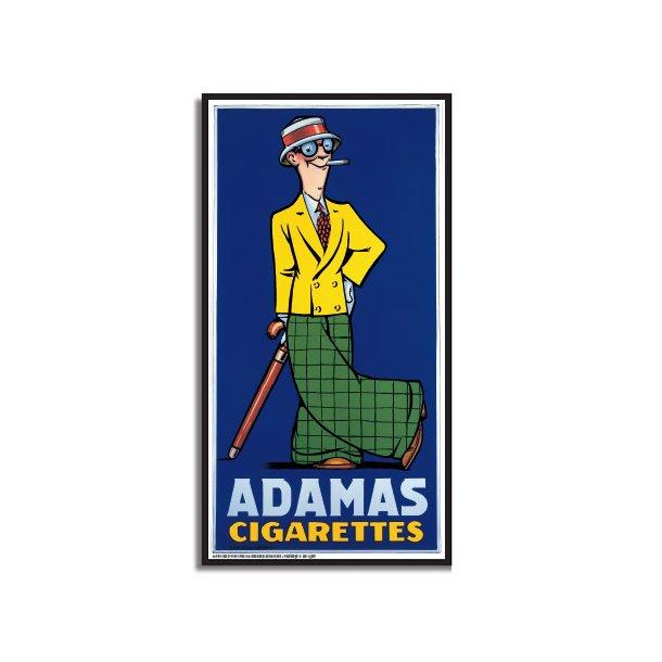 Adamas Cigarettes lippert, adamas cigarettes - retro plakater - permild & rosengreen