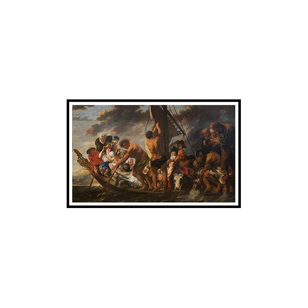 Jordaens, Tempelskatten. Apostlen Peter finder statéren i fiskens gab