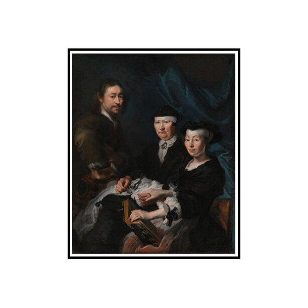 Mander III, Kunstneren med sin familie