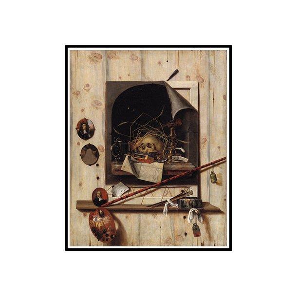 Gijsbrechts, Trompe l'oeil med ateliervæg