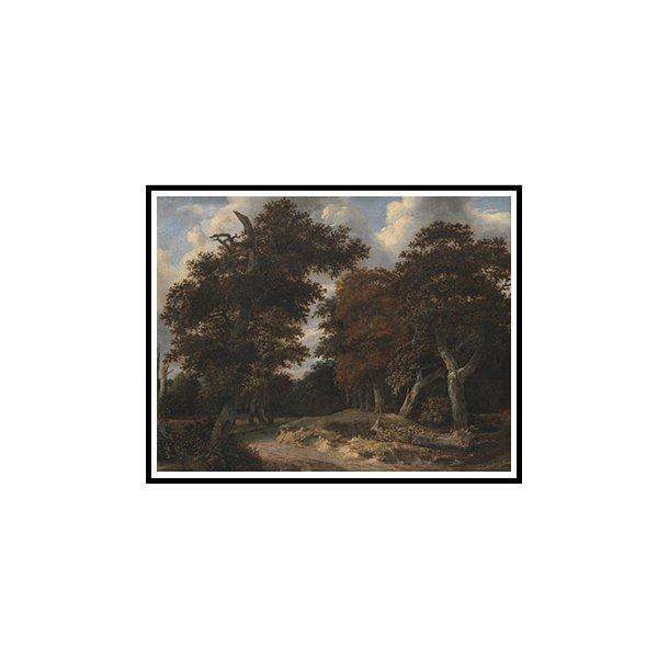 Isaacksz van Ruisdael, Vej gennem en egeskov