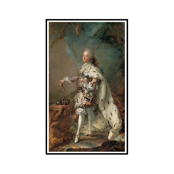 Pilo, Portræt af Frederik V i salvingsdragt
