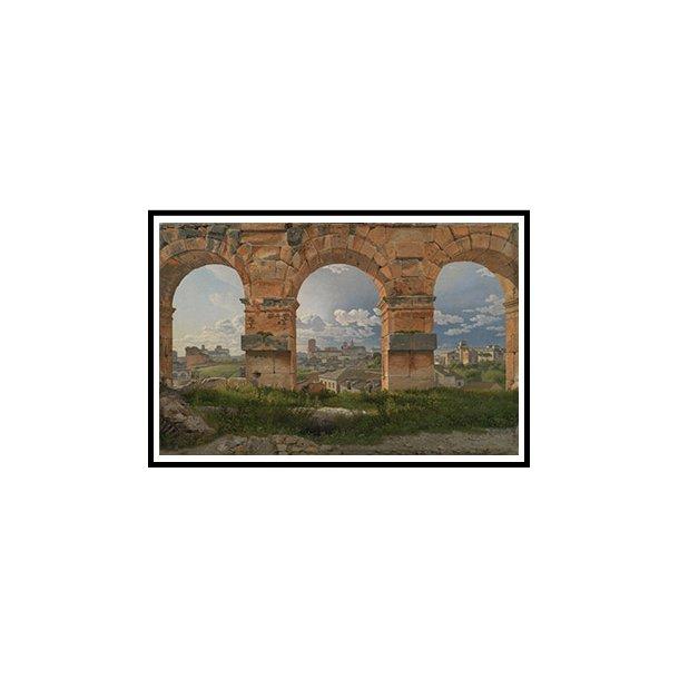 Eckersberg, Udsigt gennem tre buer i Colosseums tredje stokværk