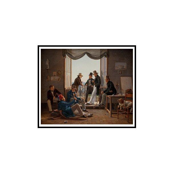 Hansen, Et selskab af danske kunstnere i Rom