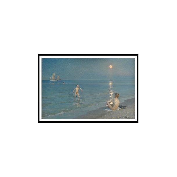 Krøyer, Badende drenge en sommeraften ved Skagens strand