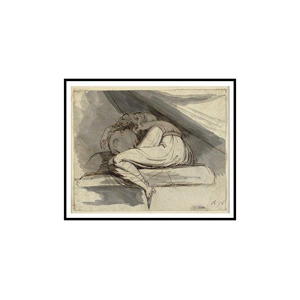 Füssli, Siddende, sammenkrøbet kvinde