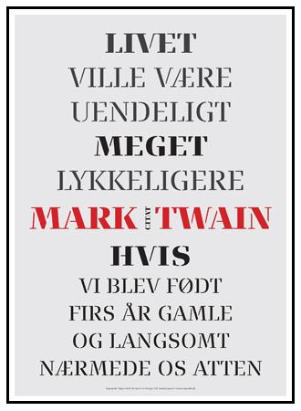 citater af mark twain Citat Mark Twain #3   Design plakater   Permild & Rosengreen citater af mark twain