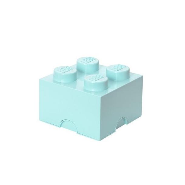 LEGO Storage Brick 4  Aqua