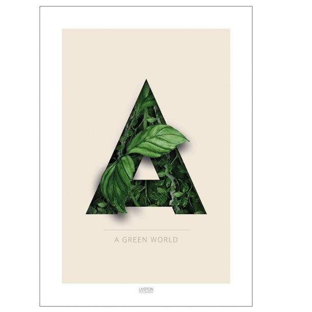 A green world - Blomsterplakat
