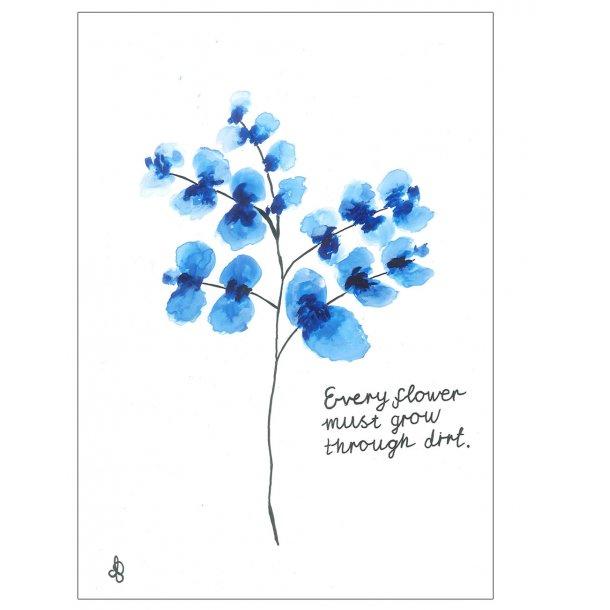 Akvarel blomster plakat