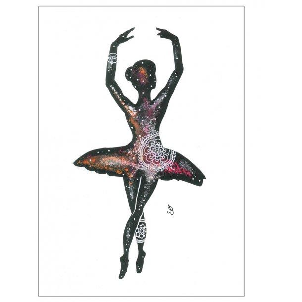 Ballerina illustreret. Plakat.
