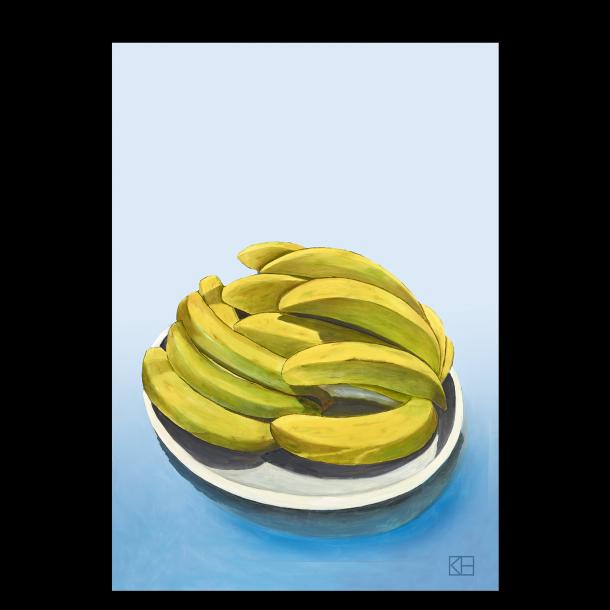 Plakat med bananer