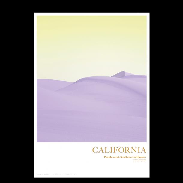 California. Purple sand