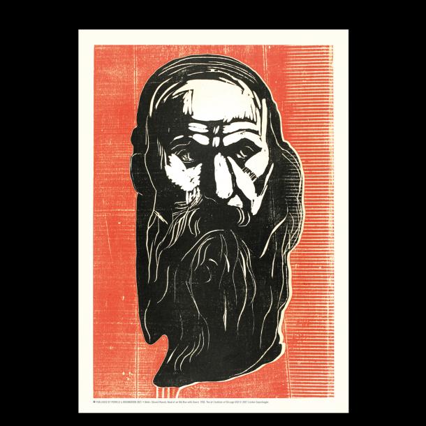 Edvard Munch - Mand med skæg (rød)