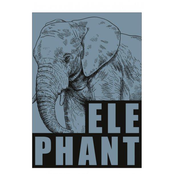 Elefant / Elephant - blå. Sebastian Klein