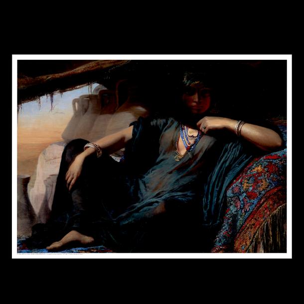 En ægyptisk pottesælger ved Gizeh