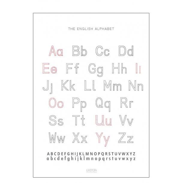 Engelsk alfabet plakat