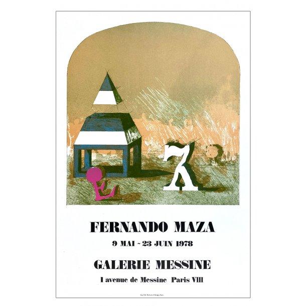 Fernando Maza (Original litografi plakat)