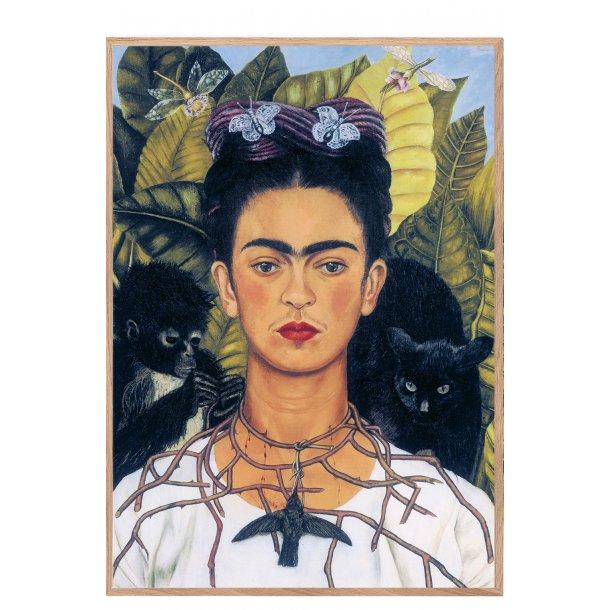 Frida Kahlo. Selvportræt med kolibri og tornekæde