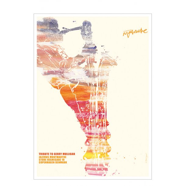 Jazz plakat – tribute to Gerry Mulligan
