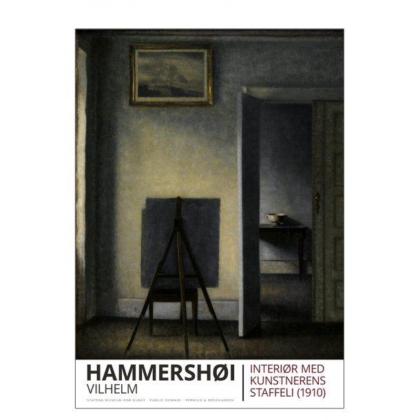 HAMMERSHØI, INTERIØR MED STAFFELI