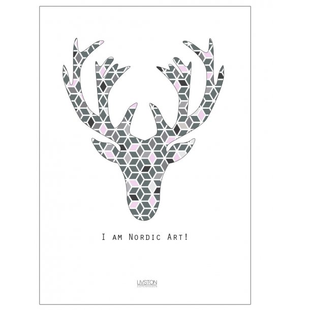 I am Nordic art – Spring Edition rosa. Design plakat.