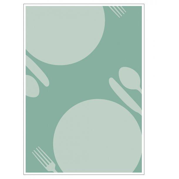 Køkkenplakat SPIS i grøn