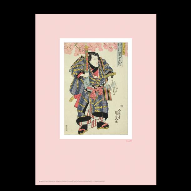Japansk træsnit. Kunisada. Rosa