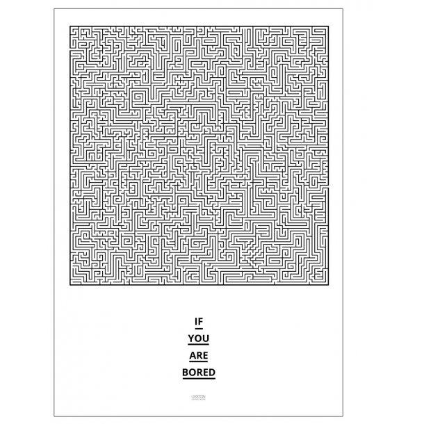 Plakat med labyrint - Designplakat