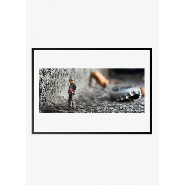 Dukke mand – fotokunst. Fotoplakat.