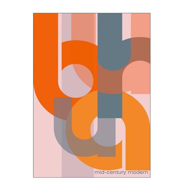 Orange modern Bauhaus - plakat