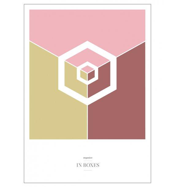 Organize in boxes plakat. - Bordeaux