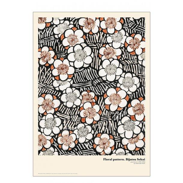 Floral pattern. Japansk træsnit
