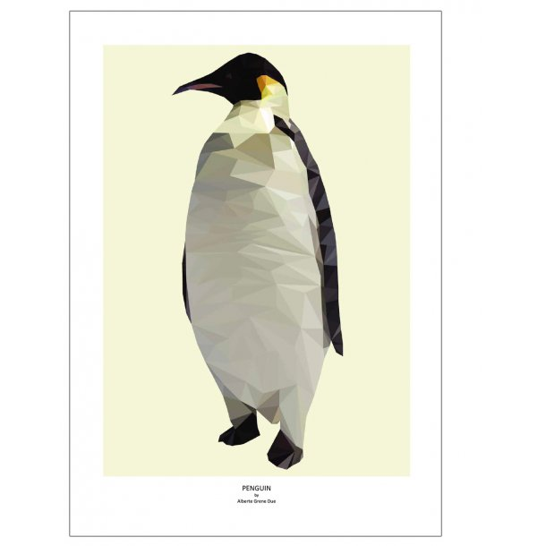 Penguin. Designplakat med dyr.