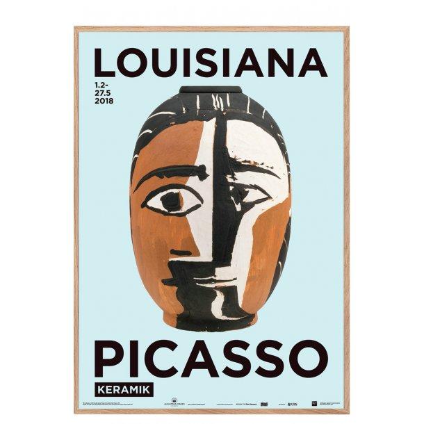 Ramme til Louisiana plakat Picasso keramik, Tête de Femme