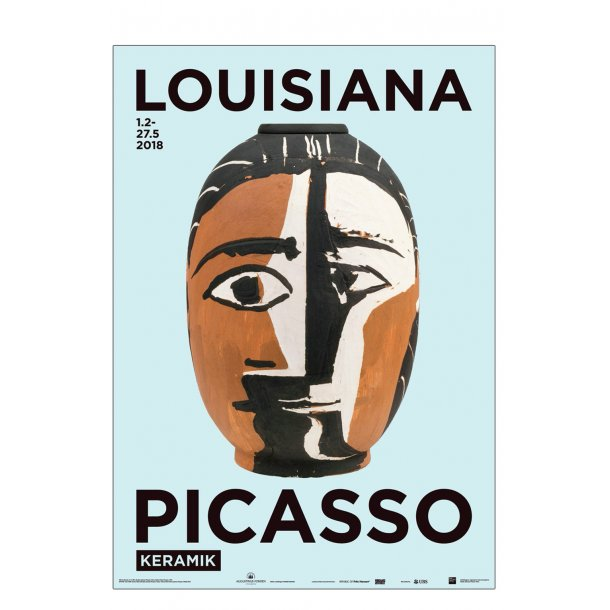 Picasso keramik, Tête de Femme, Louisiana