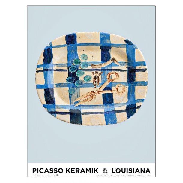 Picasso keramik, lyseblå
