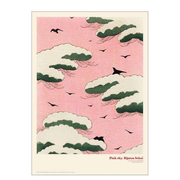 Pink sky. Japansk træsnit