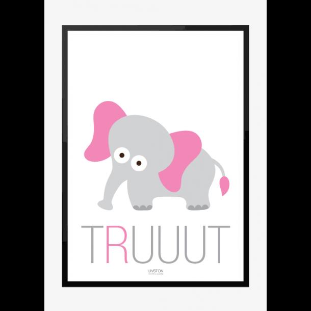 Elefant - truuut - Børneplakat