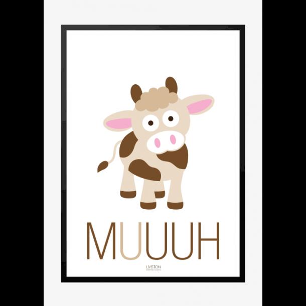 Ko - MUUUH - Børneplakat