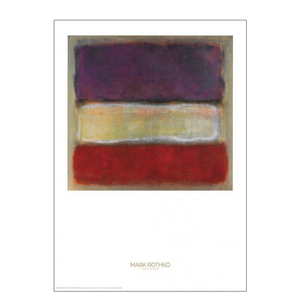 Mark Rothko. Purple white and red
