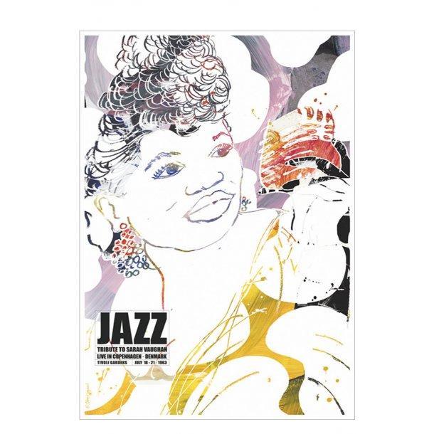 Jazz plakat – tribute to Sarah Vaughan
