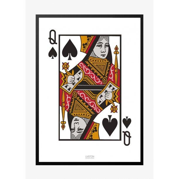 Spar Dame - kortspil plakat
