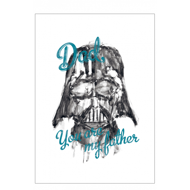 Star Wars. Dad you are my father - blå. Plakat.