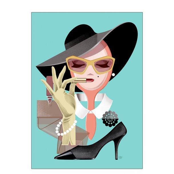 Vintage lady - Plakat