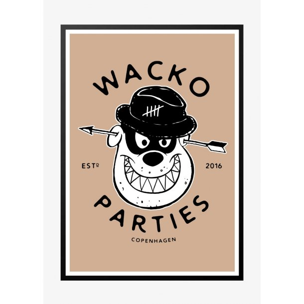 Wacko South 3 - Lys. Designplakat